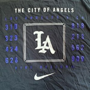 Nike Design City of Angels Area Code T Shirt